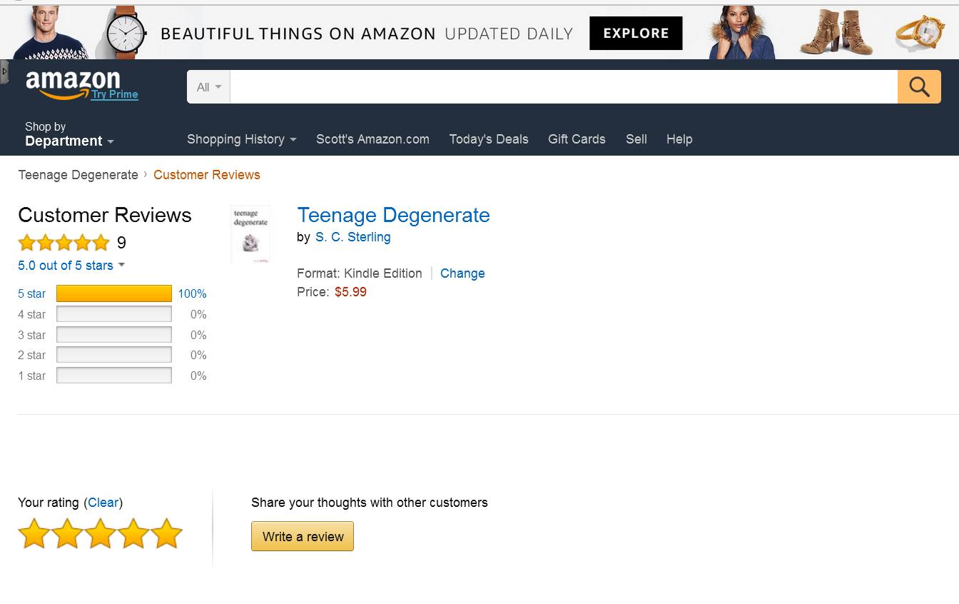 Teenage Degenerate Amazon Reviews