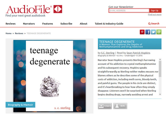 AudioFile Review of the Audiobook for Teenage Degenerate